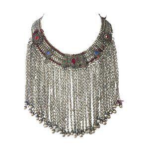 Jewelry - Afghan Jingle Bell Tribal Bib Necklace